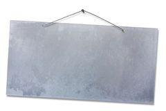 Leerer Aluminiumbegriff - Ausschnittspfad Stockbilder