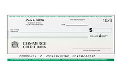 Leerer Bankscheck Lizenzfreies Stockfoto