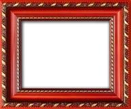 Leerer Bilderrahmen mit einem freien Platz nach innen, lokalisiert auf Weiß lizenzfreie stockbilder
