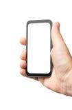 Leerer Bildschirm in der Hand Stockbild
