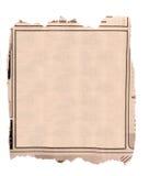 Leerer Block der alten Zeitung annoncieren Lizenzfreie Stockbilder