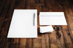 Leerer Briefpapier-Satz Stockfotos