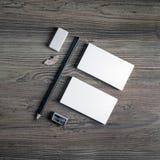 Leerer Briefpapier-Satz Stockbilder