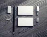 Leerer Briefpapier-Satz Stockfoto