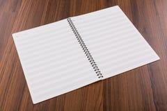 Leerer Buchspott der musikalischen Anmerkungen oben Lizenzfreies Stockfoto