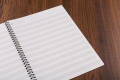 Leerer Buchspott der musikalischen Anmerkungen oben Lizenzfreies Stockbild
