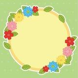 Leerer bunter netter Blumen-Rahmen-Design-Hintergrund stock abbildung