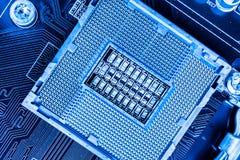 Leerer CPU-Sockel Stockfoto