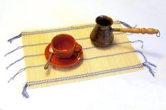 Leerer Cup- und Kaffeetürke Stockfotos