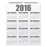 Leerer Designkalender auf einem grauen Hintergrund mit Schatten Stockfotos