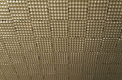 Leerer Eikasten benutzt als akustische Isolierungsbeschaffenheit des Musikstudios lizenzfreie stockbilder