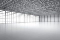Leerer Fabrikinnenraum stock abbildung