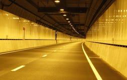 Leerer Fahrzeugtunnel bevor dem Öffnen Lizenzfreie Stockfotografie