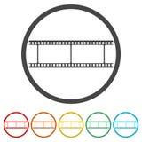 Leerer Filmstreifen, 6 Farben eingeschlossen Lizenzfreies Stockfoto