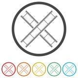 Leerer Filmstreifen, 6 Farben eingeschlossen Stockbilder