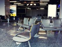 Leerer Flughafenwartebereich Stockfotografie
