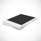Leerer Fotorahmen in der Perspektive auf weißem Hintergrund lizenzfreie abbildung