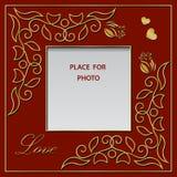 Leerer Fotorahmen, Postkarte oder Grußkarte Stockfoto