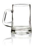 Leerer Glasbecher für Bier Stockfoto
