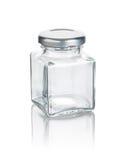 Leerer Glasbehälter stockfotografie