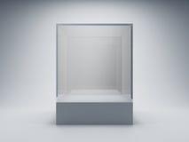 Leerer Glasschaukasten Stockbilder