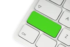 Leerer grüner Knopf Stockfoto