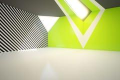 Leerer grüner Innenraum Lizenzfreies Stockbild