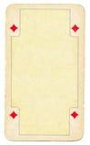 Leerer Hintergrund der Spielkarte des Weinlesediamanten Stockbild