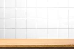 Leerer Holztisch Lizenzfreies Stockfoto