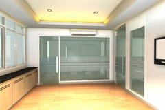Leerer Innenraum für modernes Geschäftslokal Stockfotos