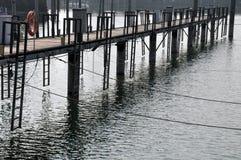Leerer Jachthafen Stockbild
