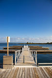 Leerer Jachthafen-Pier Stockbilder