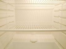 Leerer Kühlraum stockbild