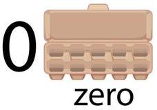 Leerer Karton des Eies stock abbildung