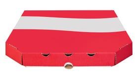 Leerer Kartonkasten für die Pizza lokalisiert stockfotografie