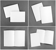 Leerer Katalog, Broschüre, Zeitschriften, Buchspott oben Stockbilder