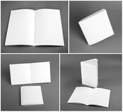 Leerer Katalog, Broschüre, Zeitschriften, Buchspott oben Lizenzfreies Stockfoto