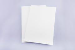 Leerer Katalog, Zeitschrift, Buchschablone mit weichen Schatten betriebsbereit lizenzfreies stockfoto