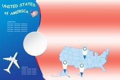 Leerer Konzeptvektor Reise-Vereinigter Staaten stock abbildung