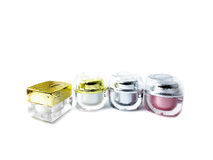 Leerer kosmetischer Behälter für Creme Stockbild