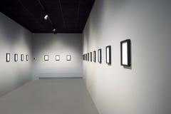 Leerer Kunstausstellungsraum Stockfotografie