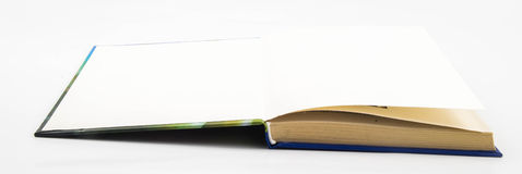 Leerer leerer Weißbuch Stockfotografie