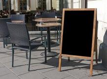 Leerer Menüvorstand Stockfotografie