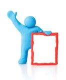 Leerer Mitteilungsvorstand. Ausschnittspfade Lizenzfreie Stockbilder