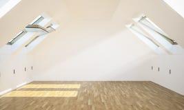 leerer moderner Dachbodenraum stockbilder