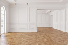 Leerer moderner klassischer weißer Innenraum vektor abbildung