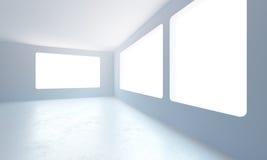 Leerer neuer Büroraum Stockbilder