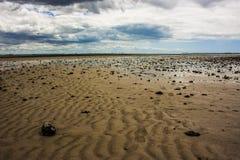 Leerer Ozean, Gezeiten- Zone in Australien, Queensland Wellington Point lizenzfreie stockfotografie