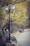 Leerer Park stockbilder