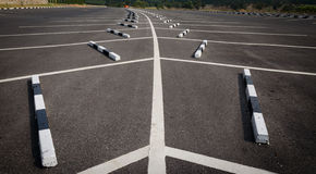 Leerer Parkplatz Stockbild